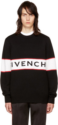 Givenchy Black Logo Sweater $895 thestylecure.com