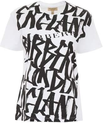 Burberry T-shirt With Graffiti Print