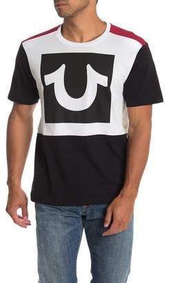 True Religion Short Sleeve Colorblock Logo T-Shirt