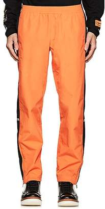 Heron Preston Men's Embroidered Striped Track Pants - Orange