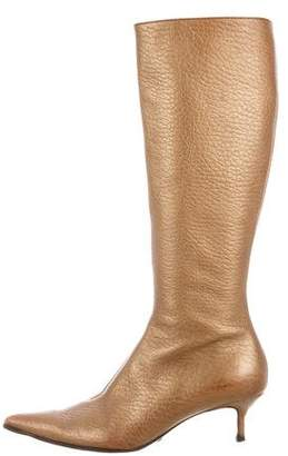 Dolce & Gabbana Pointed-Toe Leather Boots