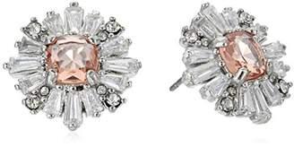 Carolee Blushing Bride Collection Women's Burst Stud Earrings