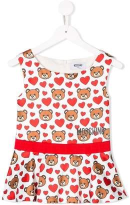 Moschino Kids logo heart bear print blouse