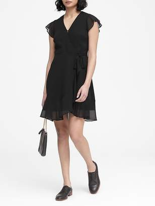 Banana Republic Petite Ruffle Wrap Dress