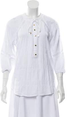 MICHAEL Michael Kors Button-up Eyelet Tunic White Button-up Eyelet Tunic