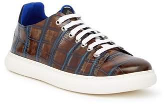 Donald J Pliner Pierce Croc-Embossed Sneaker