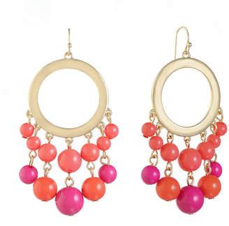 Liz Claiborne Pink Chandelier Earrings