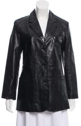 Frye Distressed Leather Blazer