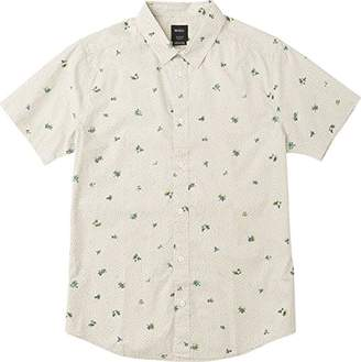 RVCA Men's Scattered Short Sleeve Woven Button up Shirt