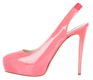 Brian Atwood Patent Leather Slingback Pumps