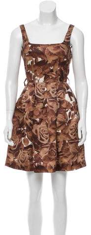 Christopher Kane Christopher Kane Floral Silk Dress