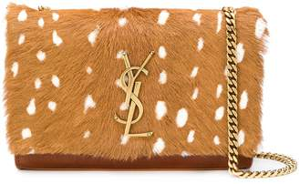 Saint Laurent fur monogram Kate shoulder-bag