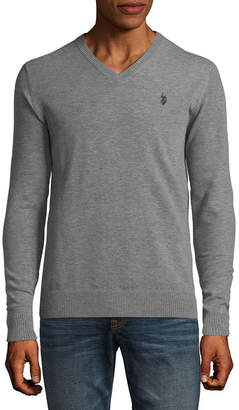 U.S. Polo Assn. USPA Long Sleeve Stretch V-Neck Sweater
