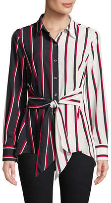 Tommy Hilfiger Tie Front Stripe Top