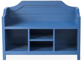One Kings Lane Beach House Storage Bench - Coastal Blue