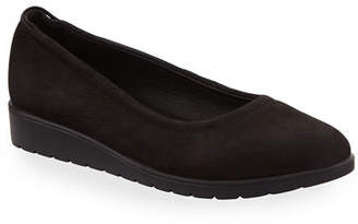 Eileen Fisher Honest Easy Leather Sneaker-Bottom Slip-On Flat