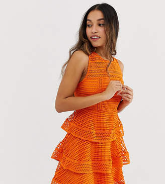New Look Petite premium tiered lace dress