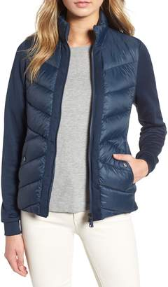Barbour Hirsel Chevron Quilted Sweater Jacket