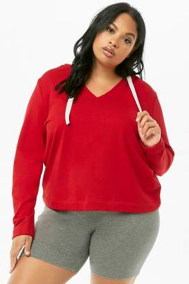 Forever 21 Plus Size French Terry Pullover Hoodie
