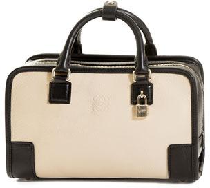 Loewe Amazona 23 Leather Bag, Stone/Black