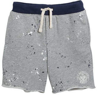 Ralph Lauren Childrenswear Paint Splatter Drawstring Sweat Shorts, Size 2-4
