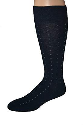 America's Socks Men's Big and Tall Patterned Cotton Blend Dress Sock - 2 pair pack