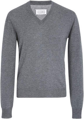 Maison Margiela Elbow-Patch Cotton And Wool-Blend Sweater