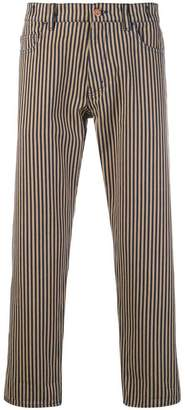 YMC striped straight trousers