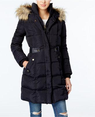 RACHEL Rachel Roy Faux-Fur-Trim Puffer Coat, Only at Macy's $250 thestylecure.com