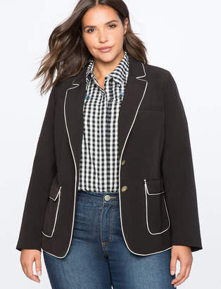 ELOQUII Quinn Blazer with Piping