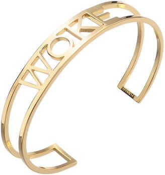 "ADORNIA Woke"" cuff bracelet"