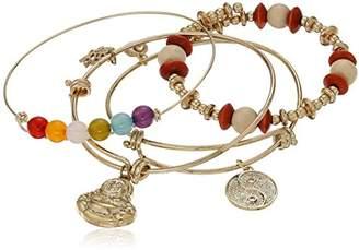 Cara Yingyang and Buddha Charm Charm Bracelet