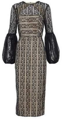 Rebecca Vallance Open-Back Lace Midi Dress