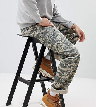 Reclaimed Vintage Revived Camo Cargo Pants In Khaki
