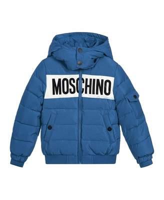 Moschino Logo Front Puffer Jacket