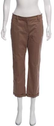 Brunello Cucinelli Cropped Mid-Rise Pants