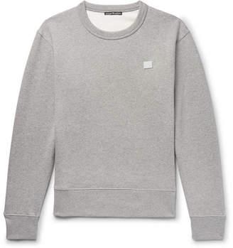 Acne Studios Fairview Face Mélange Fleece-Back Cotton-Jersey Sweatshirt