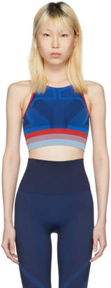 LNDR Blue Spectrum High-Neck Seamless Sports Bra