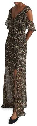 French Connection Women's Hallie Drape Cold-Shoulder Maxi Dress
