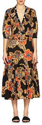 Warm Women's Sierra Floral Cotton Poplin Maxi Dress