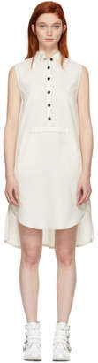 Maison Margiela White Structured Canvas Shirt Dress