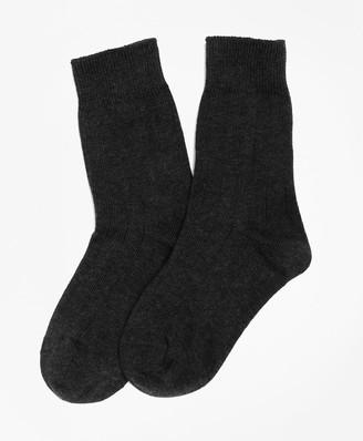 Brooks Brothers Cotton Lycra Rib Socks