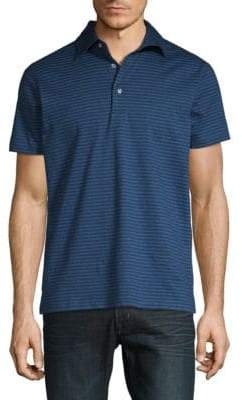 Stampd Striped Cotton Jersey Polo