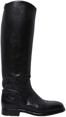 Alberto Fasciani 20mm Embossed Leather Riding Boots