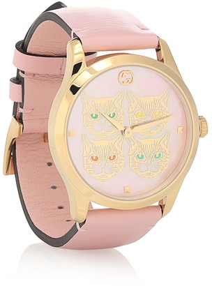 Gucci G-Timeless 38mm leather watch
