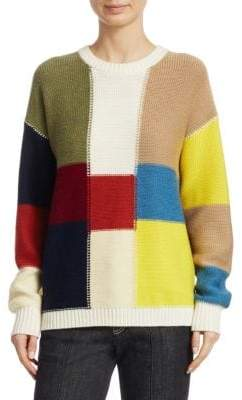 See by Chloe Color Block Knit Pullover
