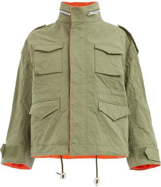 Undercover short oversized coat