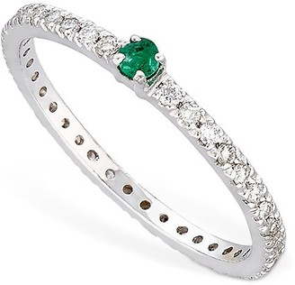 Vanzi Annagreta Diamond & Emerald Ring