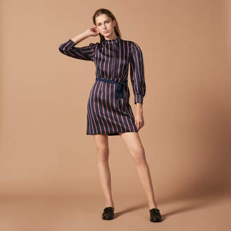Sandro Striped dress with puff sleeves