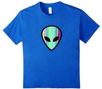 Alien Head - Holographic Cute UFO Tshirt Tee